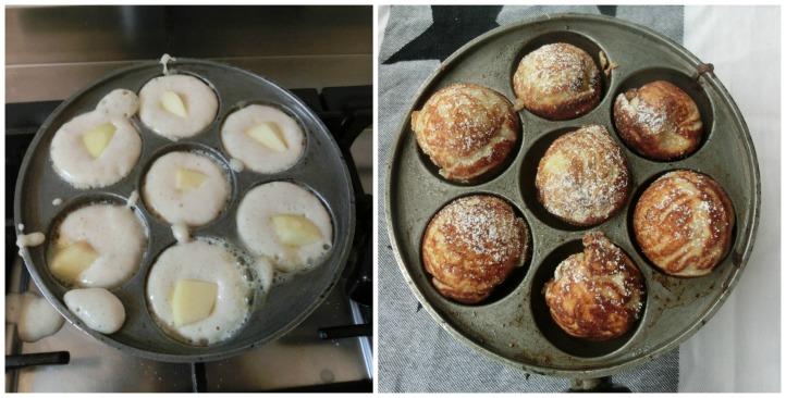 æbleskiver cooking