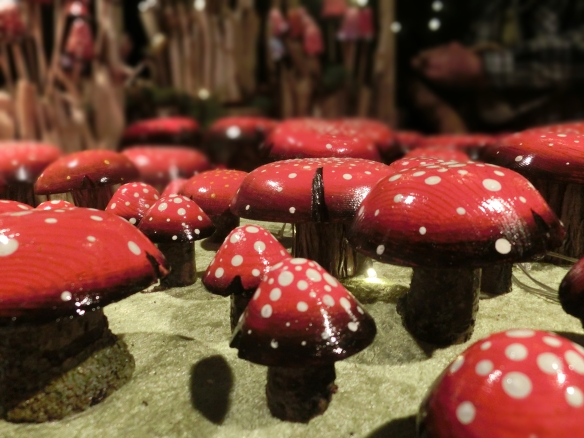 Toadstools at Christiania Christmas market