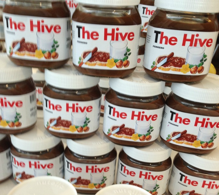 nutella jars for the hive