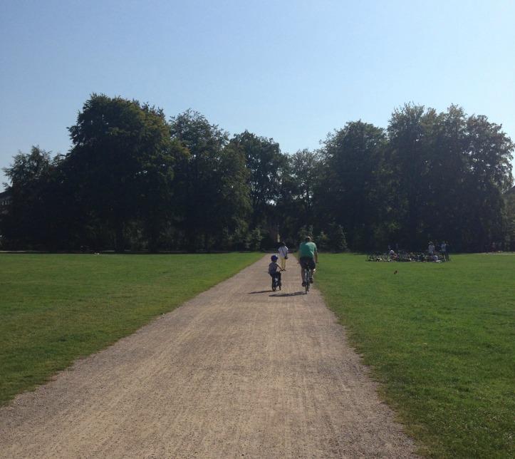 dad in park