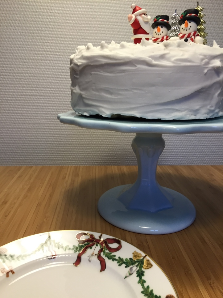 Christmas cake and Royal Copenhagen
