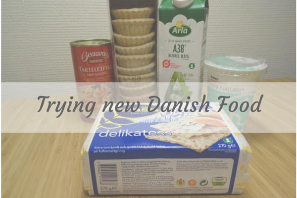 Trying new Danish Food