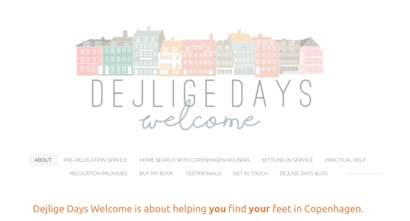 new dejlige days welcome nav