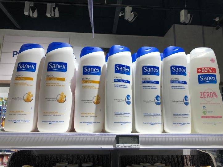 Big bottles of shower gel